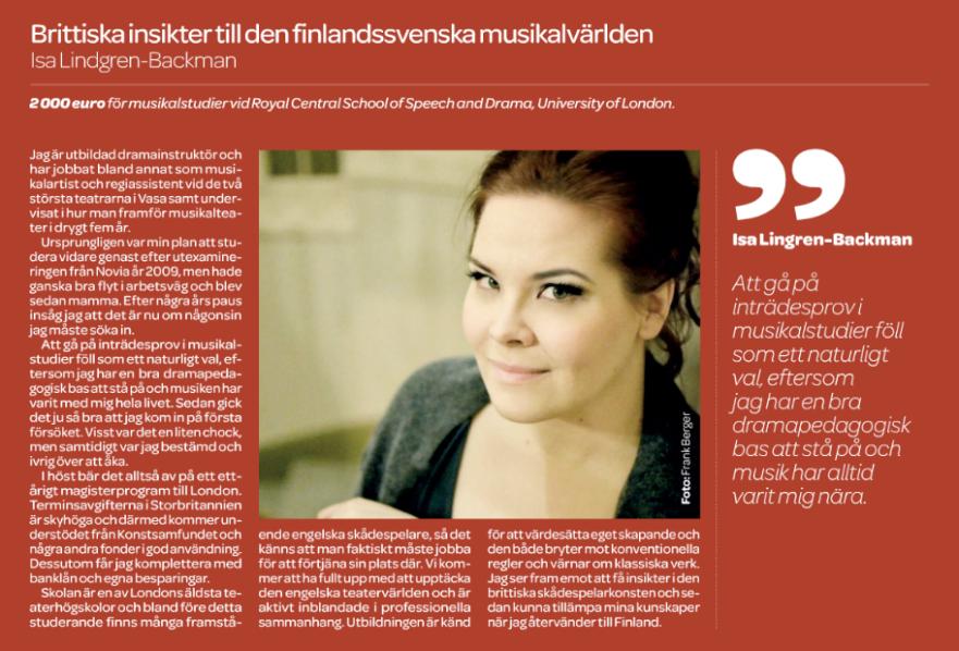 Konstsamfundet - Hufvudstadsbladet, 23.4.2015